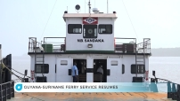 Embedded thumbnail for Guyana Suriname ferry service resumes